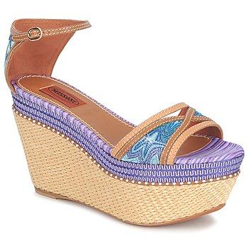 Zapatos Mujer Sandalias Missoni TM26 Azul / Marrón
