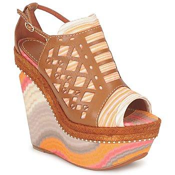 Zapatos Mujer Sandalias Missoni TM22 Marrón / Naranja
