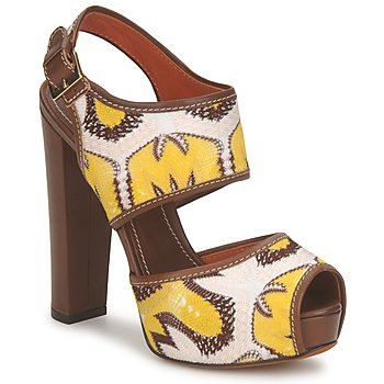 Zapatos Mujer Sandalias Missoni TM81 Marrón / Beige / Amarillo