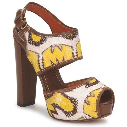 Venta de liquidación de temporada Zapatos especiales Missoni TM81 Marrón / Beige / Amarillo