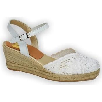 Zapatos Mujer Alpargatas Torres Zapatillas de encaje Blanco