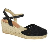 Zapatos Mujer Alpargatas Torres Zapatilla de encaje Negro