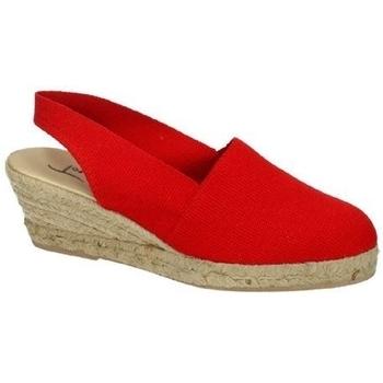 Zapatos Mujer Alpargatas Torres cuÑa esparto rojo