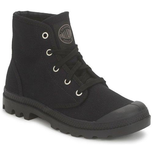 Zapatos Mujer Botas de caña baja Palladium US PAMPA HI Negro
