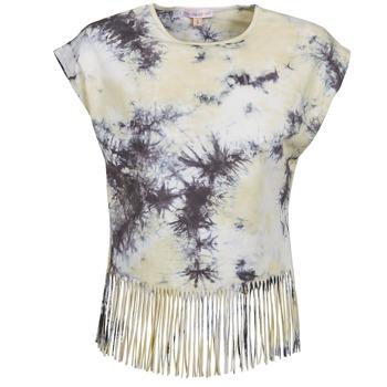 textil Mujer camisetas manga corta Moony Mood CACILIA Gris / Amarillo