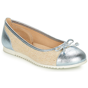Zapatos Niña Bailarinas-manoletinas André RIVAGE Azul / Beige