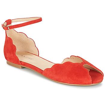 Zapatos Mujer Sandalias André SERINGAT Rojo