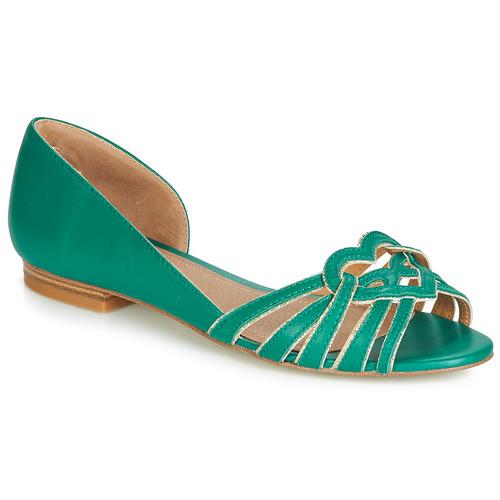 André CHRISTIE Verde - Envío gratis | ! - Zapatos Bailarinas Mujer
