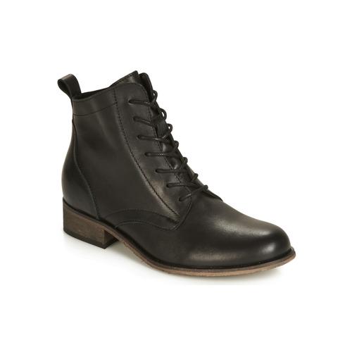 Negro Godillot Botas Caña Baja De Zapatos Mujer André NwPnk0OX8