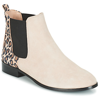 Zapatos Mujer Botas de caña baja André CHAMANE Beige