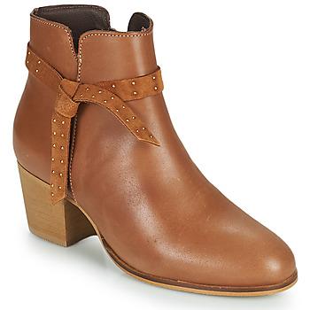 Zapatos Mujer Botines André ROMANE Cognac