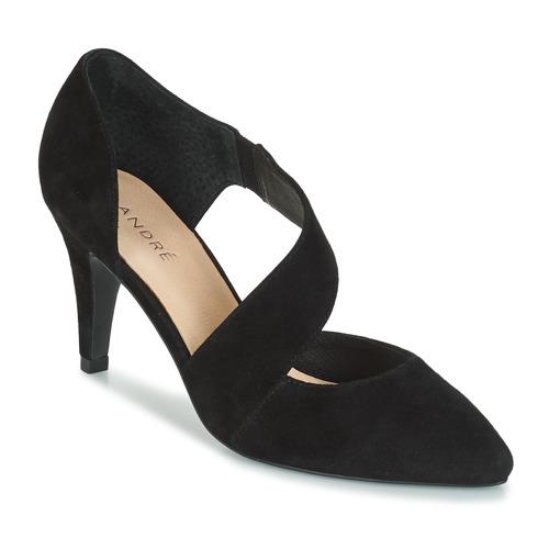 Soie André Negro Zapatos Tacón Mujer De A4RjL5