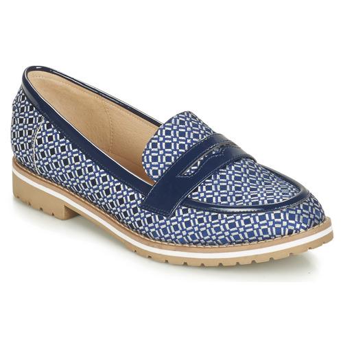 André PORTLAND Azul - Envío gratis | ! - Zapatos Mocasín Mujer