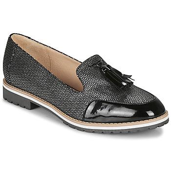 Zapatos Mujer Mocasín André EMOTION Plata / Negro
