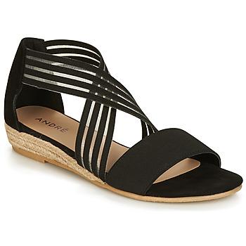 Zapatos Mujer Sandalias André RABAT Negro