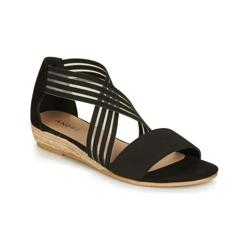 Sandalias Mujer André Negro Zapatos Rabat BeorCWdx