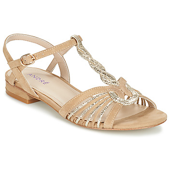 Zapatos Mujer Sandalias André CALLISTO Beige / Oro