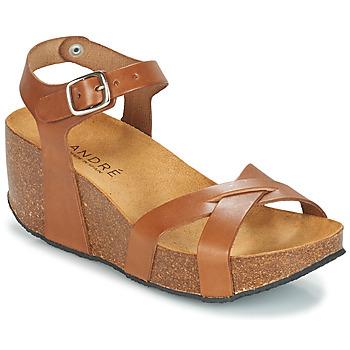 Zapatos Mujer Sandalias André HERA Marrón