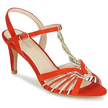 Zapatos Mujer Sandalias André CALECHE Rojo