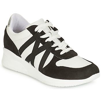 Zapatos Mujer Zapatillas bajas André ALLURE Negro / Blanco