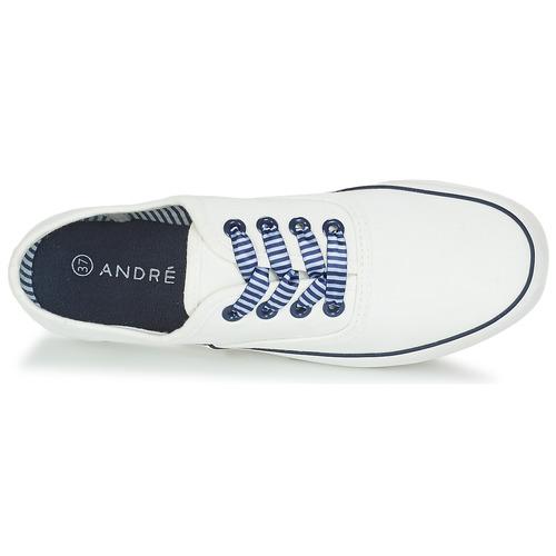 André Zapatos Bajas Steamer Mujer Zapatillas Blanco 5jL43AR