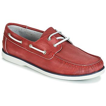 Zapatos Hombre Zapatos náuticos André PORT CROS Rojo