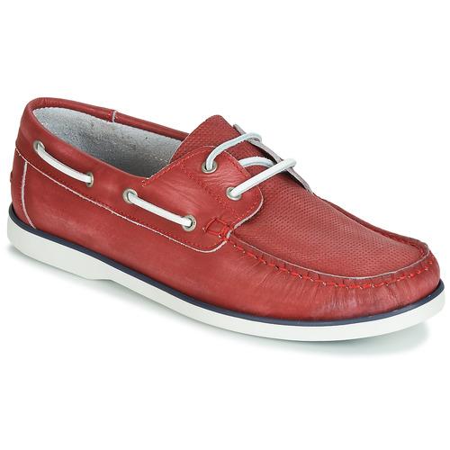 André PORT CROS Rojo - Envío gratis | ! - Zapatos Zapatos náuticos Hombre