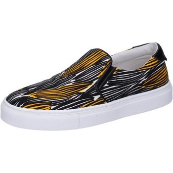 Zapatos Mujer Slip on Liu Jo slip on negro lona amarillo BT578 negro