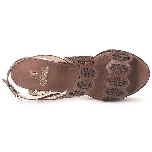 Marrón Mujer Sandalias Panama Fabi Zapatos 8nOXwk0P