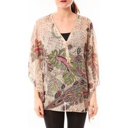 textil Mujer Camisas De Fil En Aiguille Tunique Love Look 1217 Beige Beige