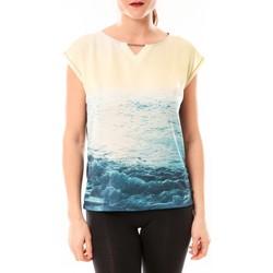 textil Mujer camisetas manga corta Little Marcel Tee-shirt Trisi E15FTSS0333 Bleu Azul