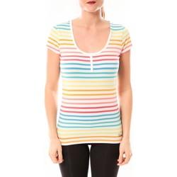 textil Mujer camisetas manga corta Little Marcel Tee-shirt Tatoum Multi 318FB Blanc Blanco