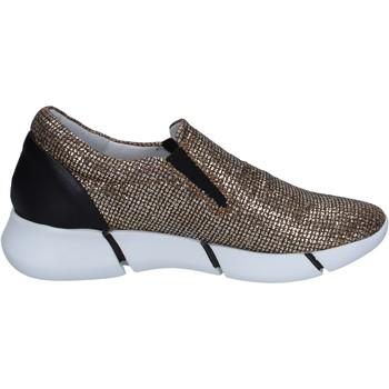 Zapatos Mujer Slip on Elena Iachi slip on mocasines dorado glitter negro cuero BT588 dorado