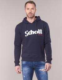 textil Hombre sudaderas Schott HOOD Marino