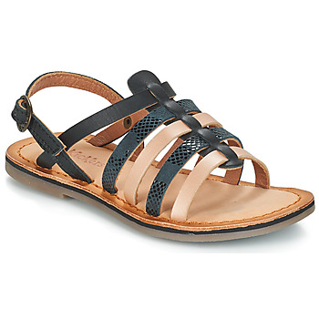 Zapatos Niña Sandalias Kickers DIXON Negro / Serpiente