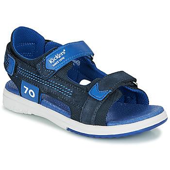 Zapatos Niño Sandalias Kickers PLANE Marino