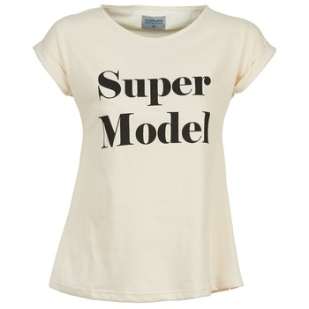 textil Mujer camisetas manga corta Compania Fantastica HITTU Blanco