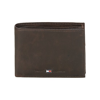 Bolsos Hombre Cartera Tommy Hilfiger JOHNSON CC AND COIN POCKET Marrón