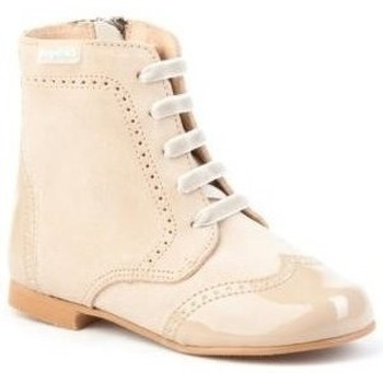 Zapatos Niña Botas urbanas Angelitos 599 Camel Marrón