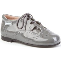 Zapatos Niña Derbie Angelitos 1505 Charol gris Gris