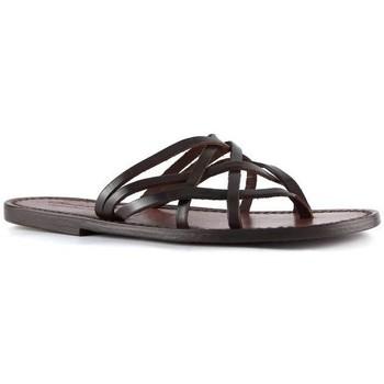Zapatos Mujer Sandalias Gianluca - L'artigiano Del Cuoio 543 D MORO CUOIO Testa di Moro
