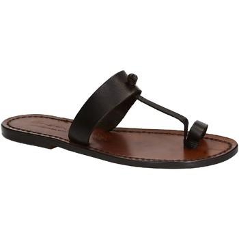 Zapatos Mujer Sandalias Gianluca - L'artigiano Del Cuoio 554 D MORO CUOIO Testa di Moro