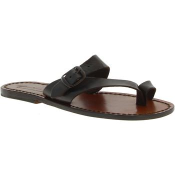 Zapatos Mujer Sandalias Gianluca - L'artigiano Del Cuoio 556 D MORO CUOIO Testa di Moro