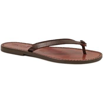Zapatos Mujer Chanclas Gianluca - L'artigiano Del Cuoio 540 D MORO CUOIO Testa di Moro