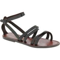 Zapatos Mujer Sandalias Gianluca - L'artigiano Del Cuoio 581 D MORO CUOIO Testa di Moro