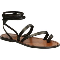 Zapatos Mujer Sandalias Gianluca - L'artigiano Del Cuoio 513 D MORO CUOIO Testa di Moro