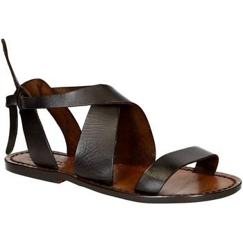 Zapatos Mujer Sandalias Gianluca - L'artigiano Del Cuoio 570 D MORO CUOIO Testa di Moro