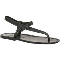 Zapatos Hombre Sandalias Gianluca - L'artigiano Del Cuoio 592 U NERO CUOIO nero