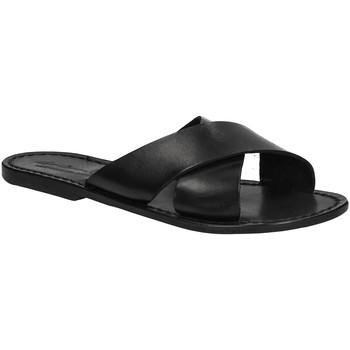 Zapatos Mujer Zuecos (Mules) Gianluca - L'artigiano Del Cuoio 560 D NERO CUOIO nero