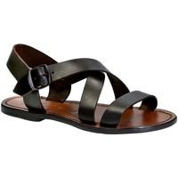 Zapatos Mujer Sandalias Gianluca - L'artigiano Del Cuoio 508X D MORO CUOIO Testa di Moro